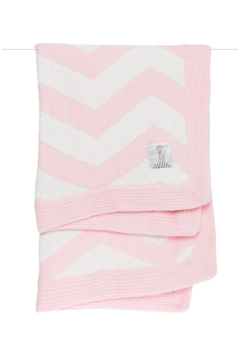 LITTLE GIRAFFE Pink Dolce Chevron Blanket - Alternate List Image