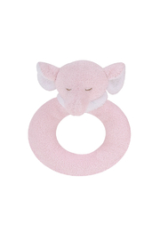 Angel Dear Pink Elephant Ring Rattle - Front cropped
