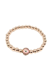 Lets Accessorize Pink Evil-Eye Bracelet - Product Mini Image