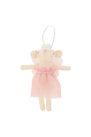 Meri Meri  Pink Fairy Mouse Tree Decoration - Front cropped