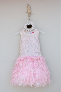 Derhy Pink Feathered Dress - Product List Image