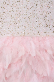 Derhy Pink Feathered Dress - Side cropped