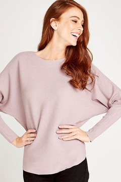 Apricot PINK FINE KNIT BATWING SWEATER - Product List Image