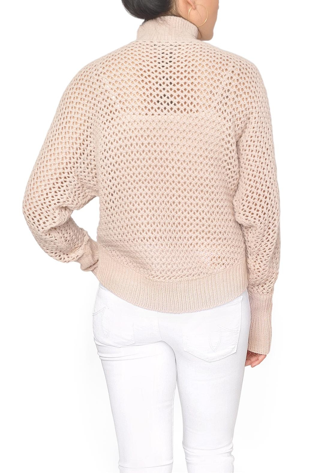 Fifth Label Pink Fishnet Sweater - Side Cropped Image