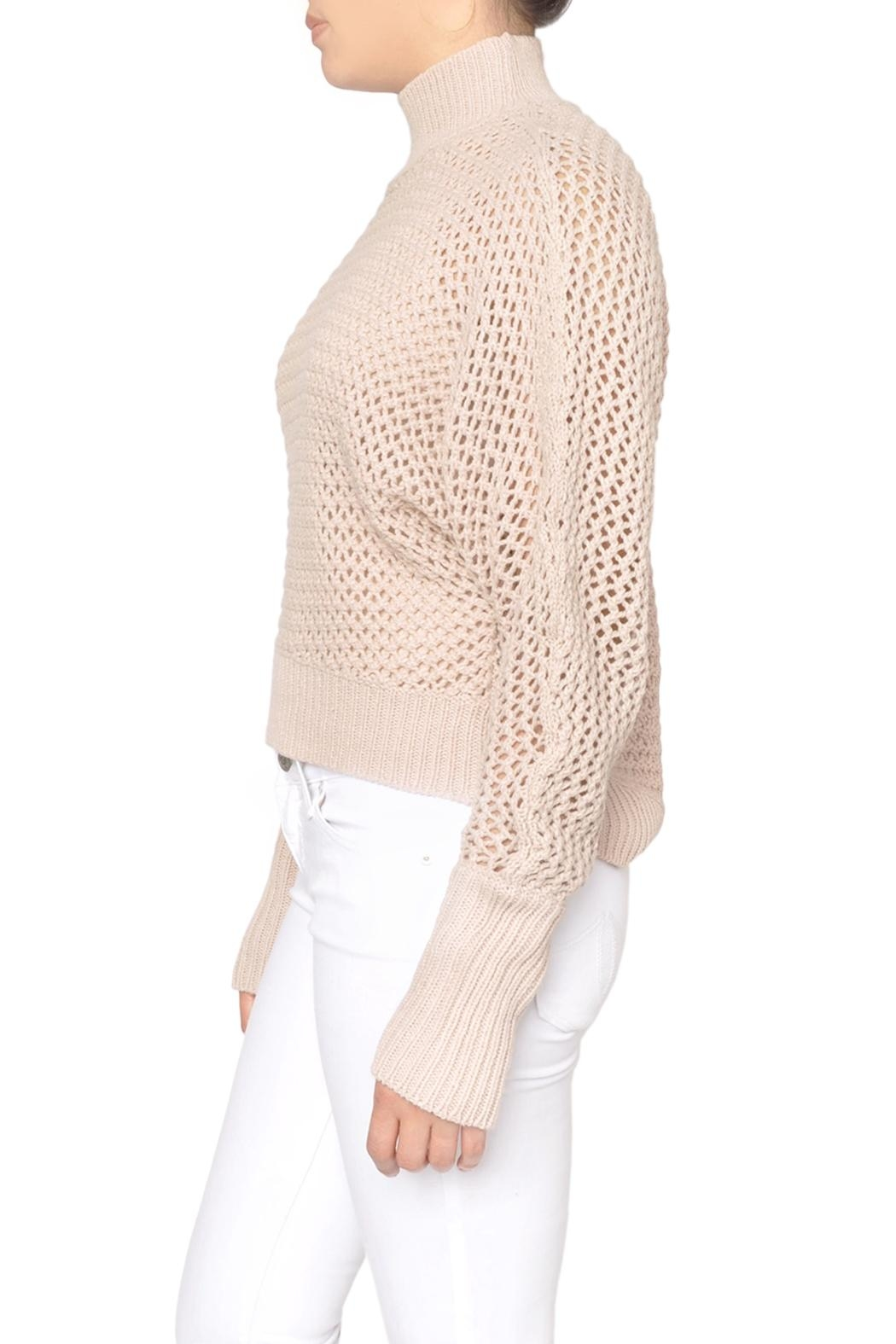 Fifth Label Pink Fishnet Sweater - Front Full Image
