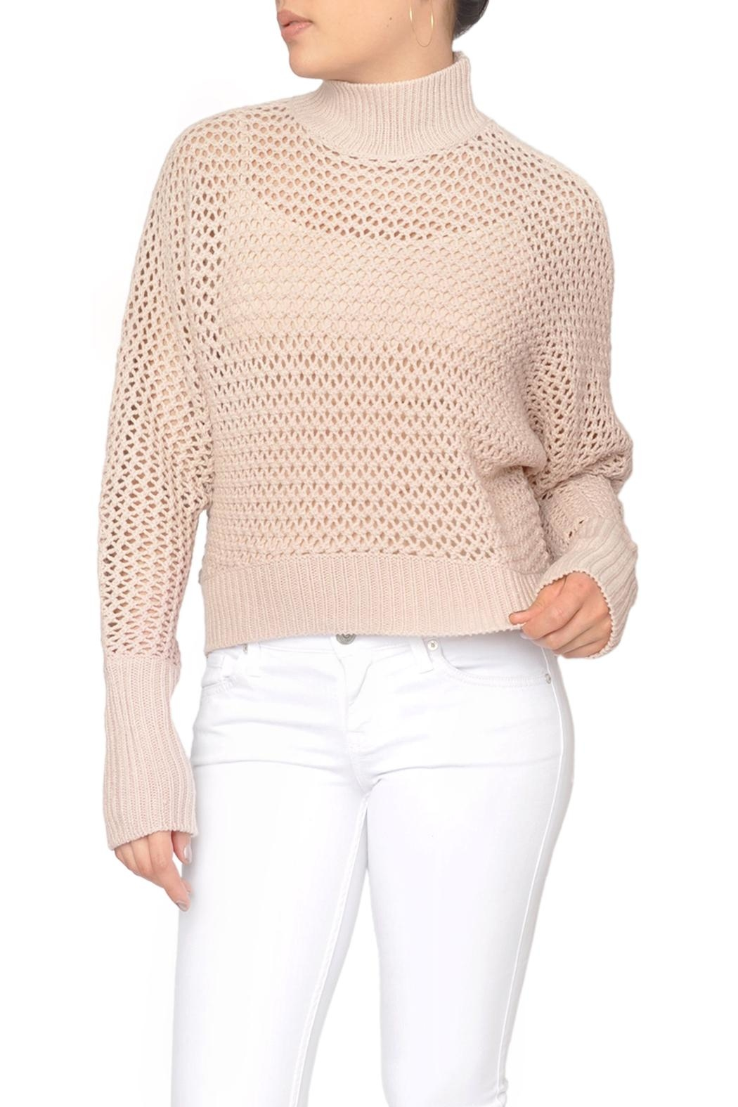 Fifth Label Pink Fishnet Sweater - Main Image