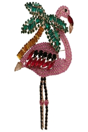 Lisa C. Pink Flamingo Brooch - Front cropped