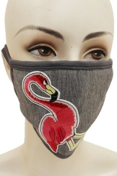 Cap Zone PINK FLAMINGO FACE MASK - Alternate List Image