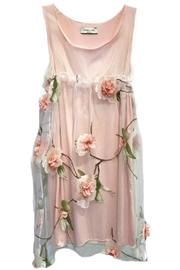 ANTONELLO SERIO Pink Floral Chiffon - Front cropped