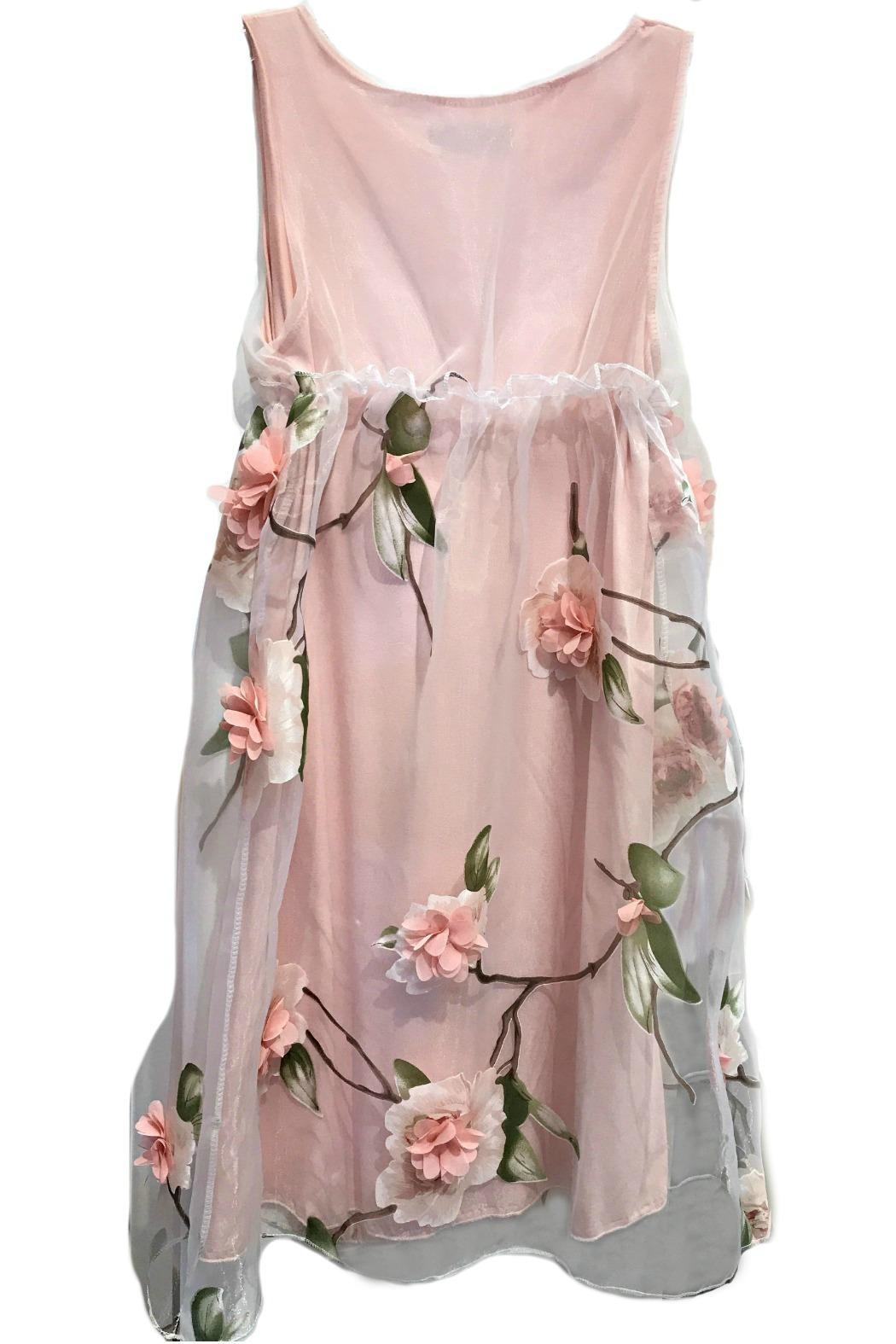 ANTONELLO SERIO Pink Floral Chiffon - Front Full Image