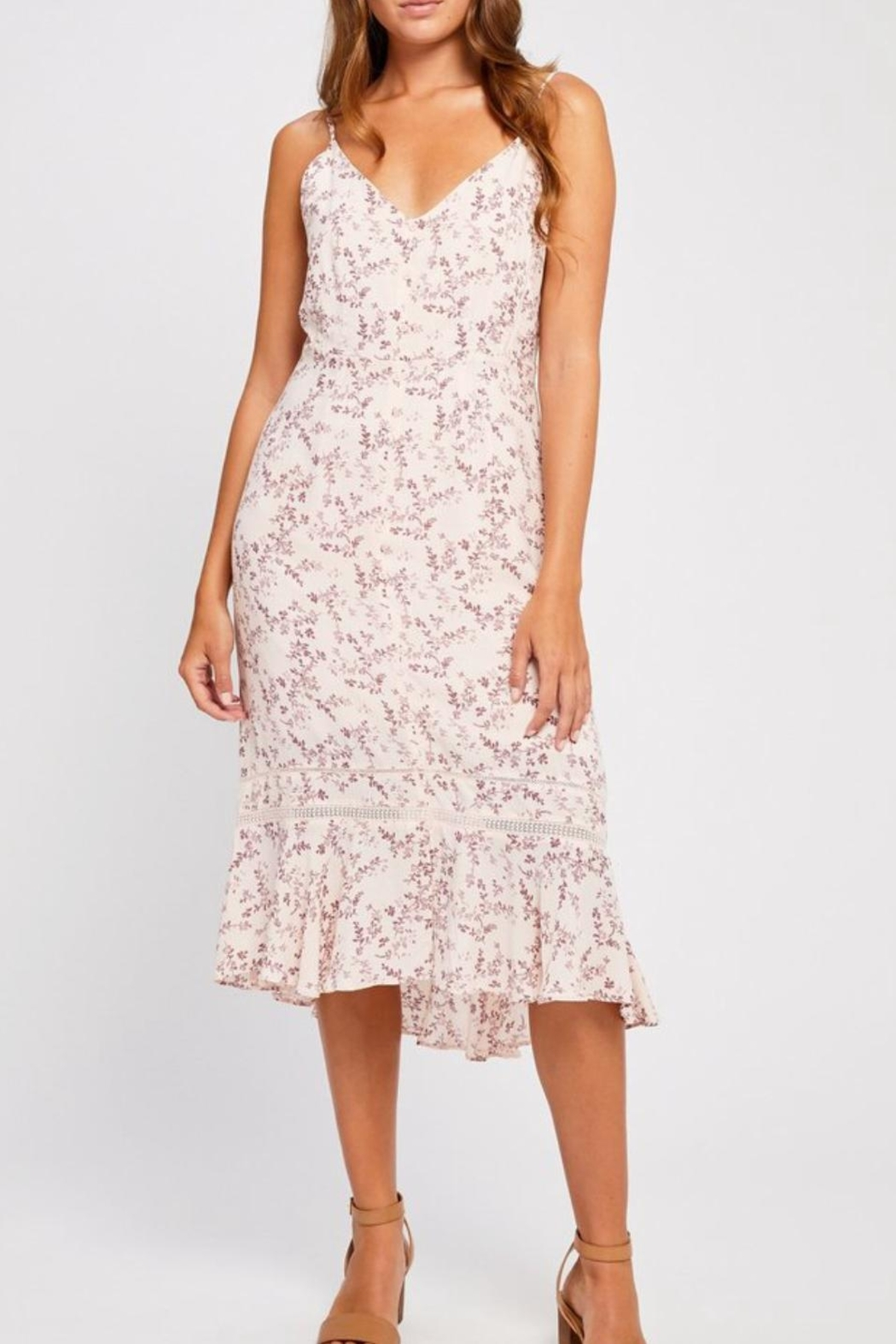 Gentle Fawn Pink Floral Dress - Main Image