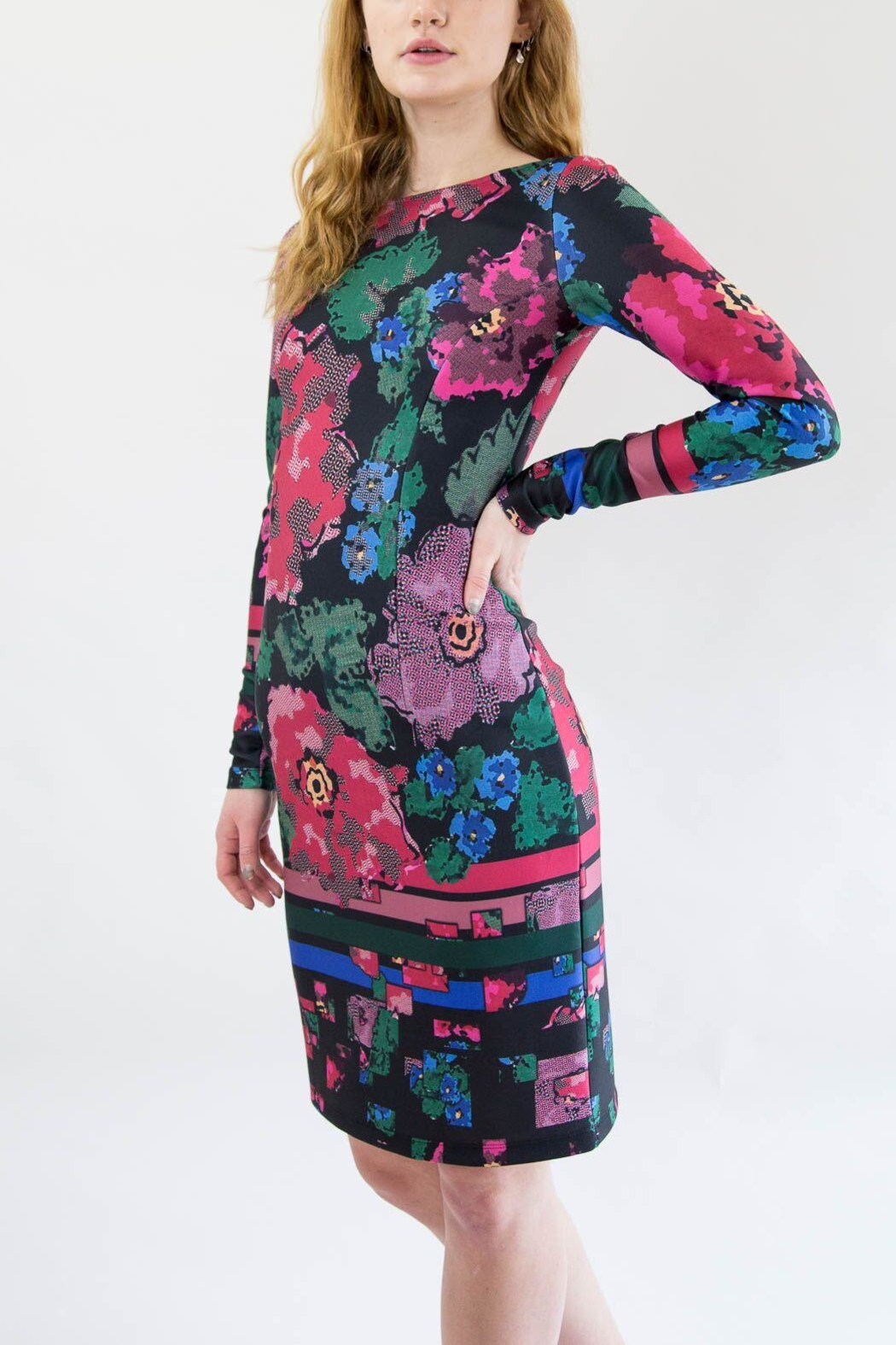 Isle Pink Floral Dress - Front Full Image