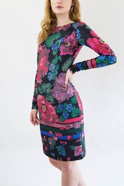 Isle Pink Floral Dress - Front full body