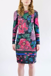 Isle Pink Floral Dress - Front cropped