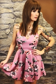 Trac Pink Floral Dress - Front cropped