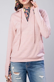 12pm by Mon Ami Pink Floral Hoodie - Product Mini Image
