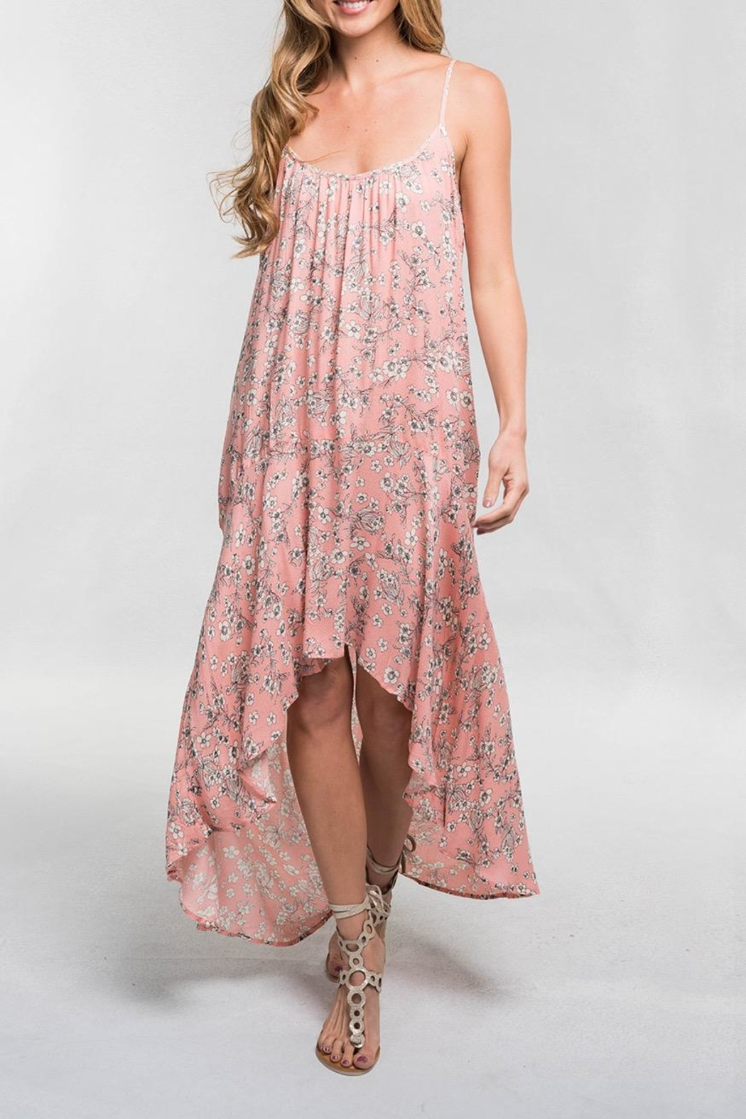 Lovestitch Pink Floral Maxi - Main Image