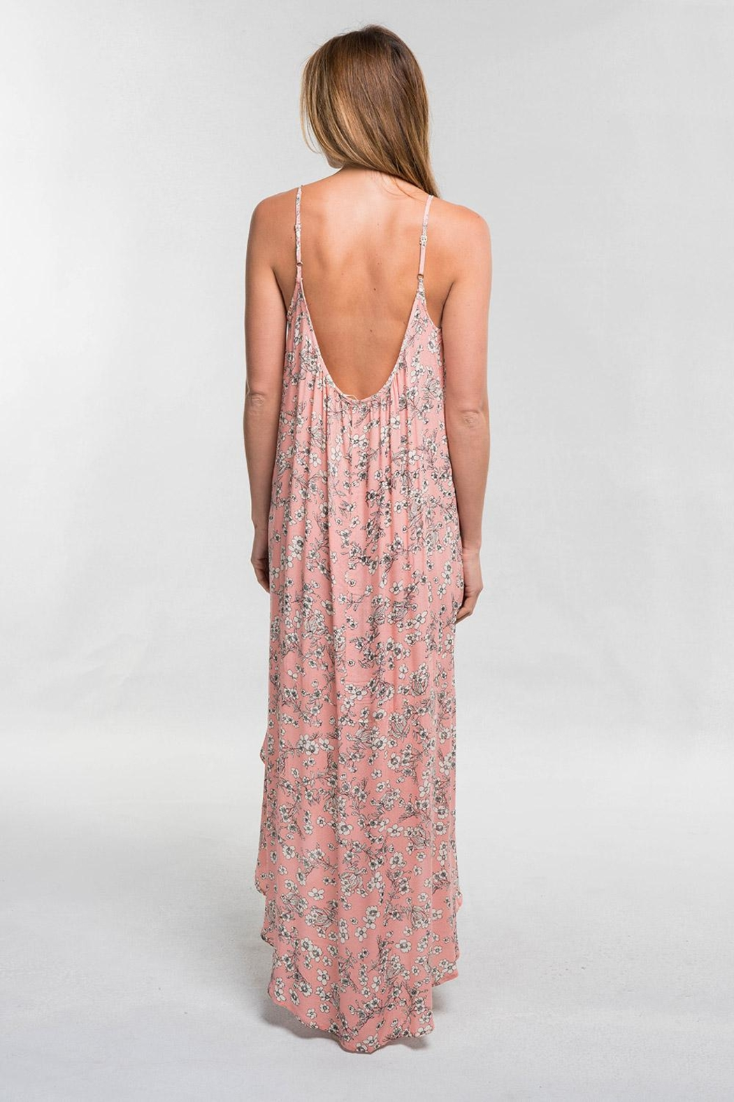 Lovestitch Pink Floral Maxi - Back Cropped Image