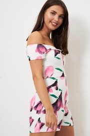 frontrow Pink Floral Playsuit - Side cropped