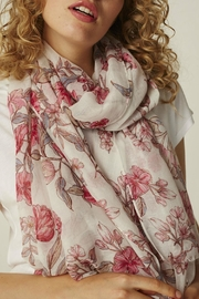 B.young Pink Floral Scarf - Product Mini Image