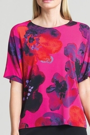 Clara Pink Floral short sleeve tunic - Product Mini Image