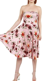 24/7 Comfort Apparel Pink Floral Strapless - Back cropped