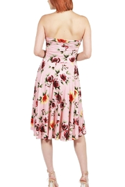 24/7 Comfort Apparel Pink Floral Strapless - Side cropped
