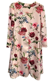ANTONELLO SERIO Pink Floral V-Neck - Front full body