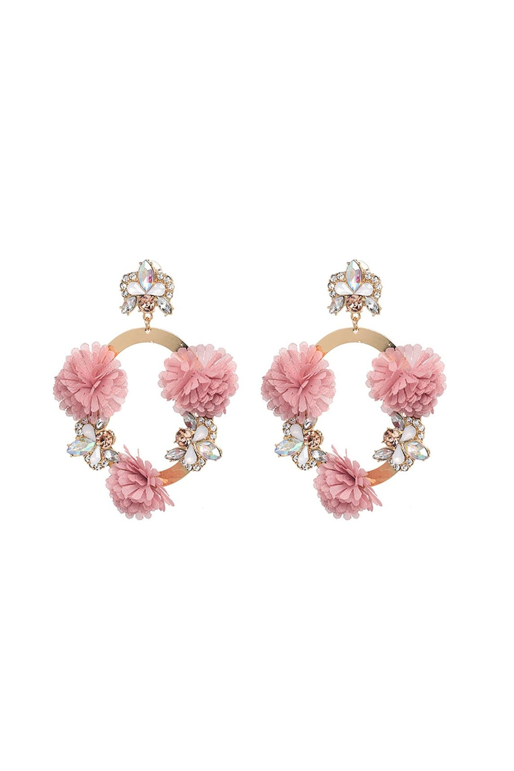 Fashion Pickle Pink Flower Earrings From Manhattan Shoptiques