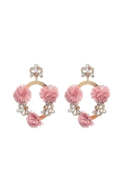 Fashion Pickle Pink Flower Earrings - Product Mini Image