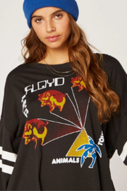 Daydreamer Pink Floyd Animals Tour Varsity Long Sleeve Tee - Back cropped