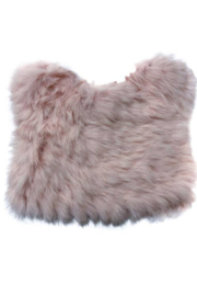 Petit Maison  Pink Fuzzy Bear Hat - Front cropped