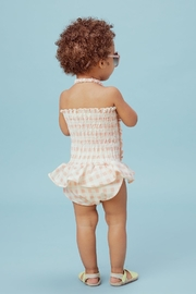 Lil Lemons Pink Gingham Swimsuit - Side cropped