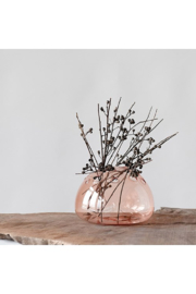 Creative Co-Op Pink Glass Modern Vase - Front cropped