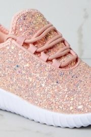 Romantico Pink Glitter Sneakers - Product Mini Image