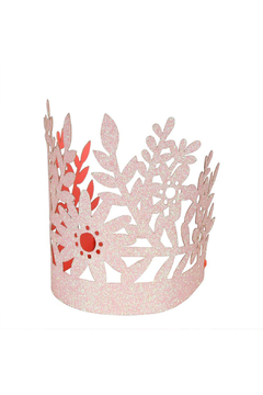 Shoptiques Product: Pink Glittery Party Crowns - Set Of 8