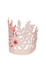 Meri Meri Pink Glittery Party Crowns - Set Of 8 - Front cropped