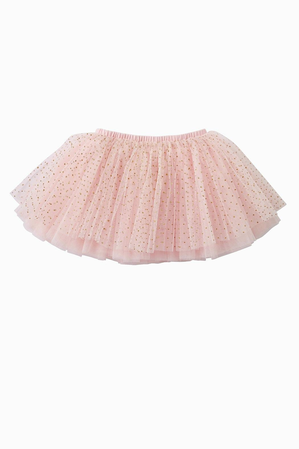 Mud Pie Pink Gold-Glitter-Mesh Tutu - Front Cropped Image