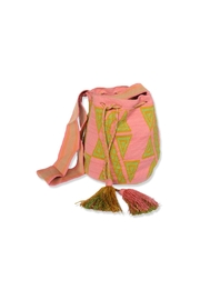 Wayuu Women Project Pink & Green Mochilla - Product Mini Image