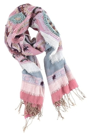 The Birds Nest PINK & GREY COTTON BLEND WRAP - Product Mini Image
