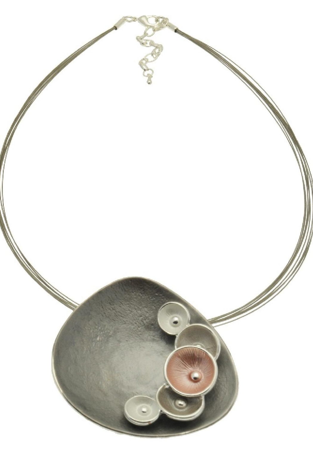 Pink Poodle Boutique Pink Grey Necklace - Main Image