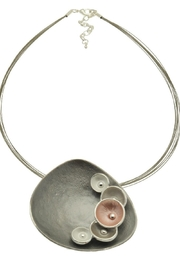 Pink Poodle Boutique Pink Grey Necklace - Front cropped