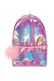 R+D Hipster Emporium  Pink Halographic Backpack - Front cropped