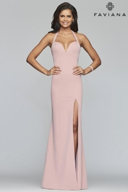 Faviana Pink Halter Gown - Product Mini Image