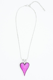 Pink Poodle Boutique Pink Heart Necklace - Product Mini Image
