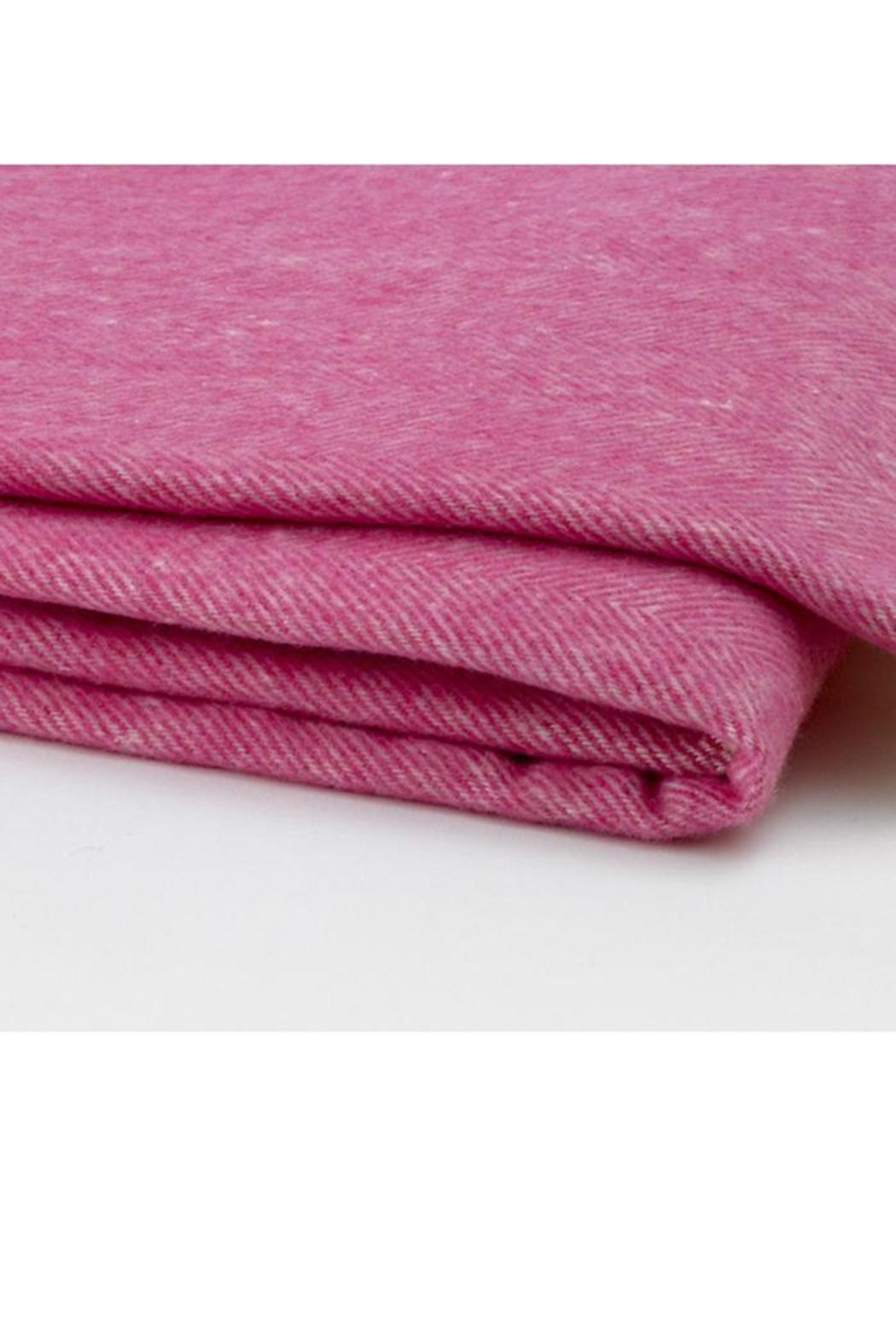 Pomegranate Pink Herringbone Blanket - Front Full Image