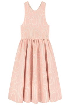 Tartine et Chocolat Pink Jacquard Dress - Product List Image