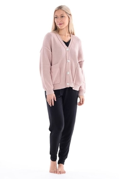 Paper Label Pink Knit Cardigan - Alternate List Image