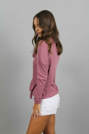 Paper Crane Pink Knit Top - Front full body