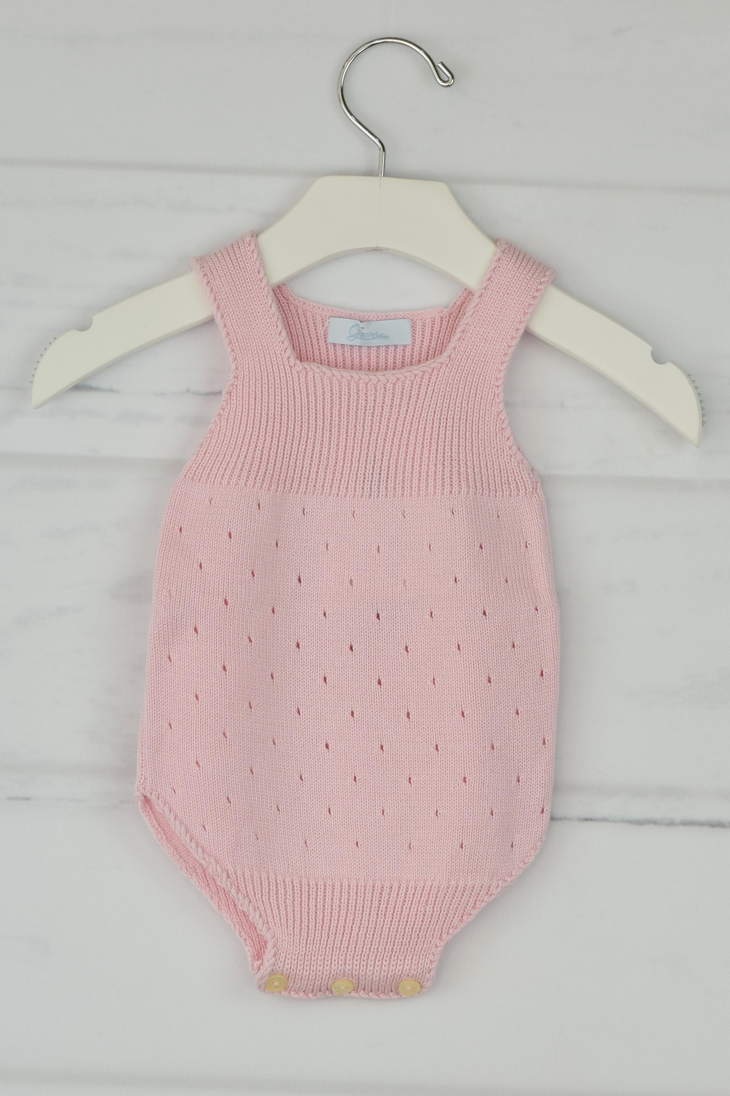 Granlei 1980 Pink Knitted Onesie - Front Cropped Image